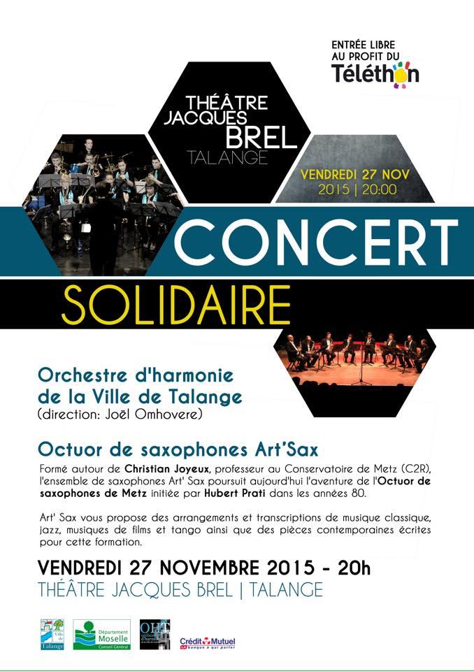 Affiche Concert affiches de concerts - art'sax