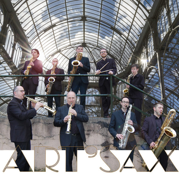 Photo officiel de l'octuor de saxophones art'sax